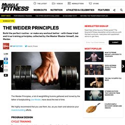 Build Muscle With the Weider Principles