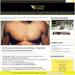 Se Muscler les Pectoraux à la Maison : Top 3 des Exercices pour Homme et Femme › Le Coin Forme