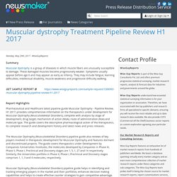 Muscular dystrophy Treatment Pipeline Review H1 2017