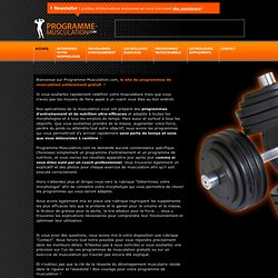 Musculation dslg pearltrees - Programme prise de force developpe couche ...