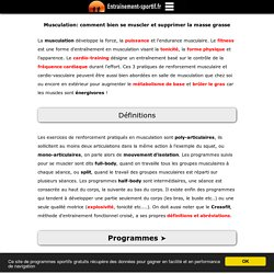 Musculation: Programmes, Exercices