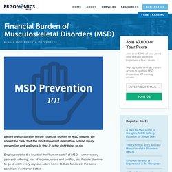 Financial Burden of Musculoskeletal Disorders (MSD) - Ergonomics Plus