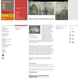 Manet, Monet. La gare Saint-Lazare