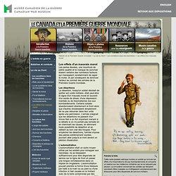 Museedelaguerre.ca - Histoire de la Première Guerre mondiale - La vie au front