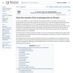 Liste des musées d'art contemporain en France