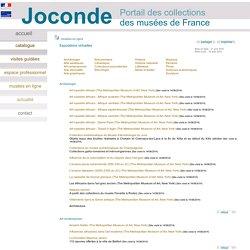 Joconde - musées en ligne - expositions virtuelles
