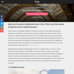 20 musées incontournables à visiter à Paris
