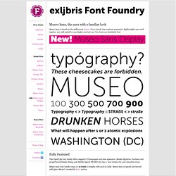 Museo Sans - a [free] font from exljbris Font Foundry