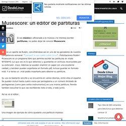 Musescore: un editor de partituras