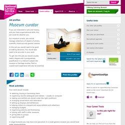Museum curator job information