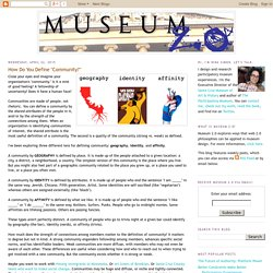 """Museum 2.0: How Do You Define """"Community?"""""""