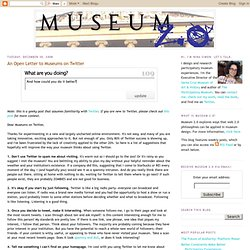 Museum 2.0: An Open Letter to Museums on Twitter