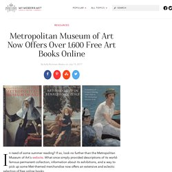 Met Museum Offers Over 1,600 Full-Length Free Books Online