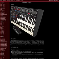 Museum of Soviet synthesizers..url