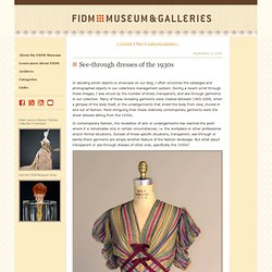 FIDM Museum Blog: See-through dresses of the 1930s