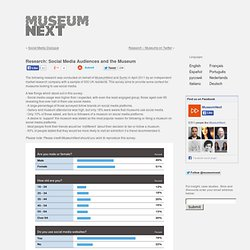 Research: Social Media Audiences and the Museum
