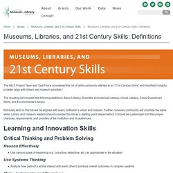 21st Century Skills: Museums, Libraries