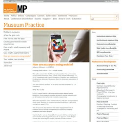 How are museums using mobile?