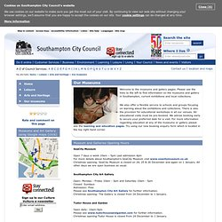 Museums and Galleries - Southampton City Council