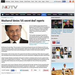 Musharraf denies 'US secret deal' reports