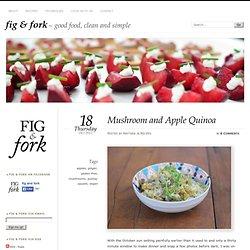 Mushroom and Apple Quinoa