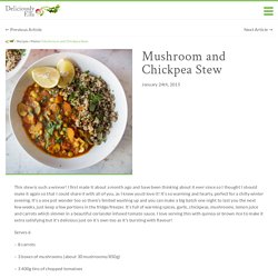 Mushroom and Chickpea Stew