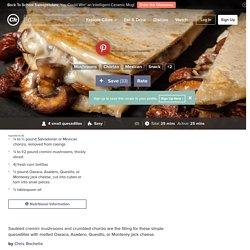 Mushroom and Chorizo Quesadillas Recipe