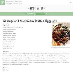 Sausage and Mushroom Stuffed Eggplant