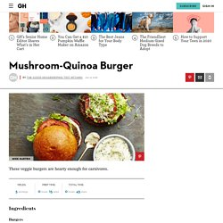 Best Mushroom-Quinoa Burger Recipe - GoodHousekeeping.com