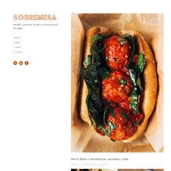 white bean + mushroom 'meatball' subs — Sobremesa