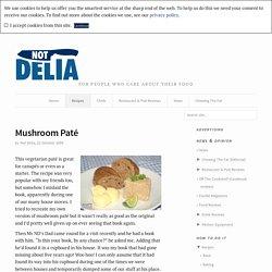 Mushroom Paté