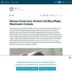 Always know your shroom and Buy Magic Mushroom Canada: shafaa1 — LiveJournal