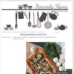 Cheesy Mushroom & Herb Tart
