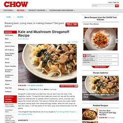 Kale and Mushroom Stroganoff Recipe