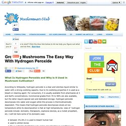 Mushroomers ClubGrowing Mushrooms The Easy Way With Hydrogen Peroxide ~ mushroomers club