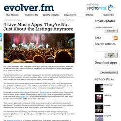 4 Live Music Apps: They're Not Just About the Listings Anymore