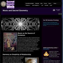 Music and Sacred Geometry
