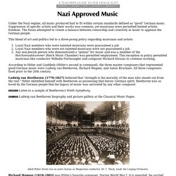 Music Approved of by the Third Reich