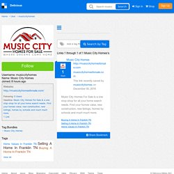 Music City Homes's Bookmarks (User musiccityhomes)
