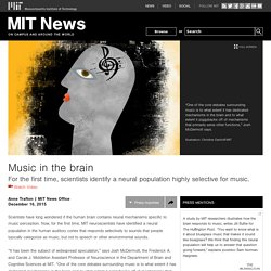 Music in the brain