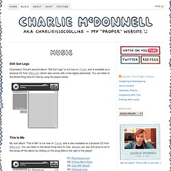 Music | Charlie McDonnell