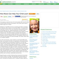 How Music Can Help Your Child Learn