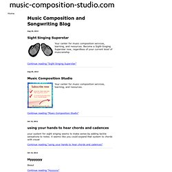 Music Composition and Songwriting Blog