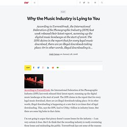 Why the Music Industry is Lying to You - ReadWriteWeb