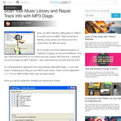 Scan Your Music Library and Repair Track Info with MP3 Diags