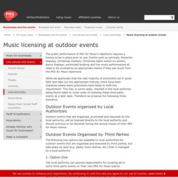 Music licensing at outdoor events