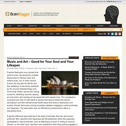 Music and Art – Good for Your Soul and Your Lifespan