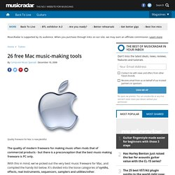 26 free Mac music-making tools - Tutorials | musicradar.com