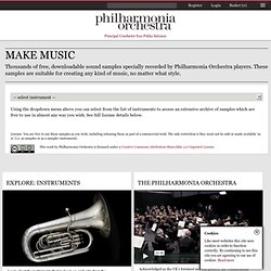 Philharmonia Orchestra: The Sound Exchange: Make Music: Samples: