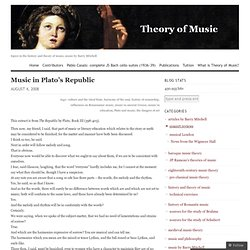 Music in Plato's Republic